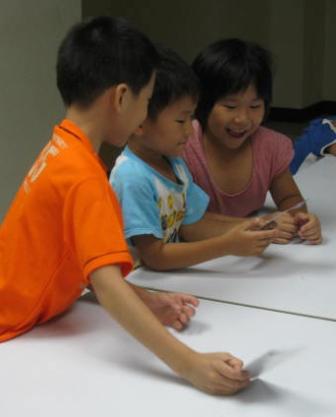 儿童树叶葫芦贴画